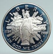 1989 Usa Thomas Crawford House Of Repres Mace Proof Silver Us Dollar Coin I90947