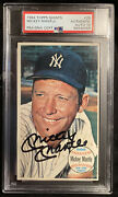 1964 Topps Giants Mickey Mantle 25 Psa/dna 10 Auto New Psa Label Authentic