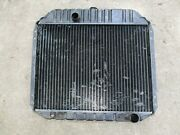 1960's 1970's Radiator 2 Row Ford Chevy Dodge 23 3/4 X 18 / Out=1 3/4 In=1 1/2