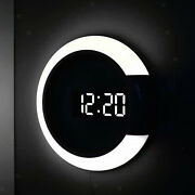 Upgrade Office 12 Led Wall Clock Remote Control Night Light Looping Display