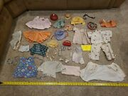 Huge Lot Of Baby Doll Clothes Vintage Antique Accessories