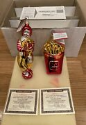 Mcdonalds Mcmemories Christmas Ornaments Large French Fries Ronald Mcdonald-read