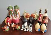 Vintage Salt And Pepper Shakers Lot Of 9 Japan Snappy The Snail