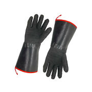1 Pair 932°f Hot Heat Proof Resistant Gloves Oven Mitts Bbq Grill Bake