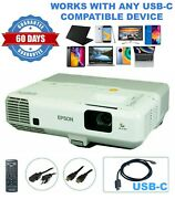 Refurbished Epson 93 3lcd Projector Home Theater - Streaming Bundle Usb-c