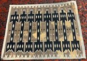 Handmade Antique American Navajo Yey Rug 3and039 X 5and039 91cm X 152cm 1920s - 1n27