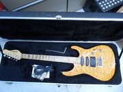 Jackson Limited Edition Yellow Maple Transparent Amber Electric Guitar W/ Case