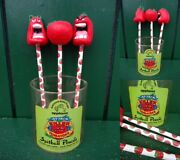 Killer Tomatoes Pencils With Soft Vinyl All Kinds Set Vintage Horror B-class