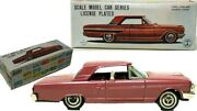 Vintage Japanese Tin Friction 1960's Ford Fairlane Sports Coupe W/ Original Box