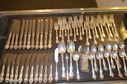 Westmorland George And Martha 925 Sterling Silver 65 Pc Flatware Set