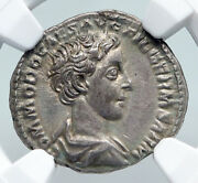 Commodus The Gladiator Emperor Old Ancient Silver Roman Coin Ngc Priestly I91309