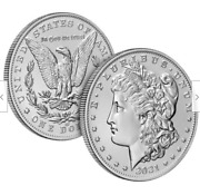 Two Coin Set 2021 Morgan Silver Dollar With Cc And O Privy Marks Presale 2 Coins