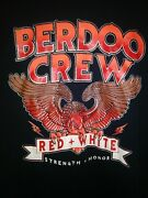 Berdoo Crew Stand Proud Vtg Hells Angels Support T-shirt Red And White Sz L