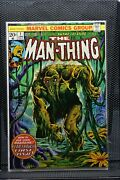 Man-thing 1 Marvel 1974 Steve Gerber 2nd Appearance Of Howard The Duck 7.5