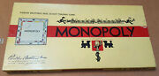 Rare Antique Vintage 1936 Monopoly Yellow Box Board Game Rules Wood Hotels House