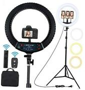 18 Inch Led Ring Light With Tripod Stand Dimmable Makeup Selfie Ring Light For