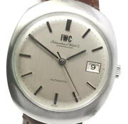 Schaffhausen Antique Self-winding Ss Leather Silver Dial Menand039s Watch [u0529]