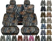 Front And Rear Car Seat Covers Fits Suzuki Equator 2009-2012 Choice Of 28 Colors