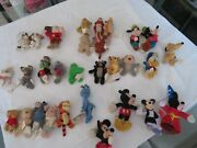 Rare And Htf Disney Plush Refrigerator Magnets Lot Of 30 All Different