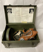 Vintage Gas Mask Davis Safety W/ Canister In Orig Box Military Mining Halloween
