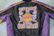 G-iii Carl Banks Nba Los Angeles Lakers 3-peat Men's Leather Jacket Size 2xl.