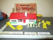 Vintage Marx Ranch House W/ Accessories And Original Box
