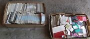 Lot Of Matchbook Cover Collection -2 Flats -some Duplicate Covers In Left Box