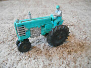 Old Vintage Toy Auburn Rubber Tractor Truck Farm Equipment Vehicle With Driver
