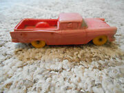 Old Vintage Toy Auburn Rubber Usa 3 Automobile Pickup Truck 610 Faded Red Pink