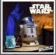 R2-d2 Star Wars Scentsy Warmer Light Projection On The Wall Of Princess Leia