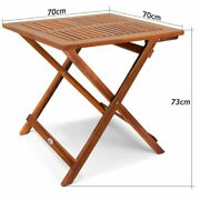 Solid Wood Table Folding Outdoor Indoor Garden Snack Stylish Square Coffee Table