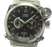 Oris Bc4 Flight Timer 7615 Automatic Stainless Black Dial Menand039s Watch [u0530]