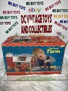 Vintage 915 Fisher Price Play Family Farm Little People Complete In Box