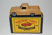 Matchbox Lesney 50a Commer Mkvii Pickup, Brown, Metal Wheels, Boxed Type B