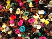 100 Lego Lot Of Hair And Hats Headgear Authentic Some Rare Pieces Included