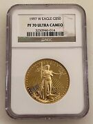 1997-w 50 American Gold Eagle Ngc Pf70 Ucam One Ounce