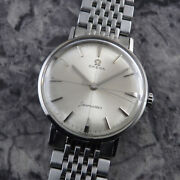Wristwatch Omega Seamaster Menand039s Used 1960and039s Silver Manual Stainless Steel