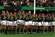 South Africa World Cup Team National Anthem World Cup 1995 Signed 12x8 Photo