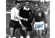 Alfredo Di Stefano Jimmy Armfield England V Rest Of The World Signed 12x8 Photo
