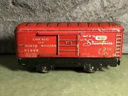 Vtg Marx   51998 Candnw Train Box Car   Streamliners 400   Red W/ Silver Graphics