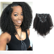 Sassina 4b 4c Afro Coily Clip In Hair Extensions Human Hair For Black Women Remy