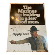 Antiques Marines Double Sided Recruitment Sign Us Government Great Graphics