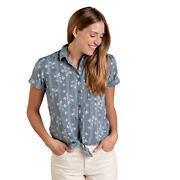 Toad And Co. Womenand039s Willet Tie Short-sleeved Shirt