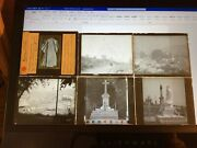 Magic Lantern Glass Slide Lot Of 6. Misc Subjects. Buildings And Religious