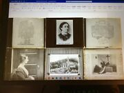 Magic Lantern Glass Slide Lot Of 6. Misc Subjects. Portraits And Religious