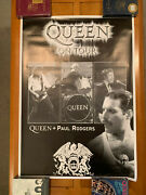 Queen + Paul Rodgers 2005 Uk World Tour Poster - 25 X 35 - Mercury Bad Company