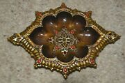 Jay Strongwater Scalloped Jungle Libre Crystal Enamel Vanity Jewelry Tray Dish