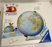 Ravensburger 3d Puzzle The Earth 540 Pieces World Globe With Stand New