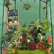 6x8x7' Portable Walk-in Outdoor Plant Gardening Greenhouse With Window Green New