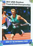 2011 Usa Outdoor Track And Field Championships Poster Nick Symmonds Hayward Field